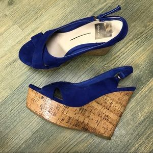 Dolce Vita Blue Suede Wedges